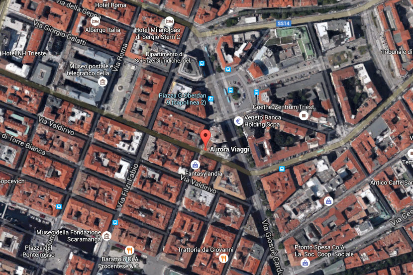 Mappa Aurora Viaggi Trieste